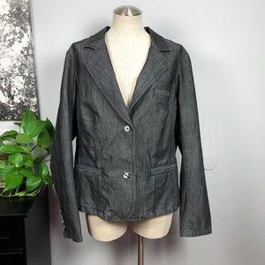 Torrid dark wash denim blazer jacket Sz 3X